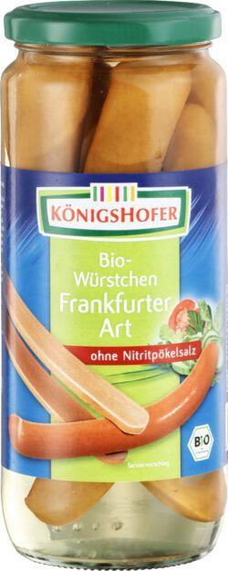 Königshofer Würstchen Frankfurter Art, geräuchert, ohne Zusatz von Nitritpökelsalz 6x580g