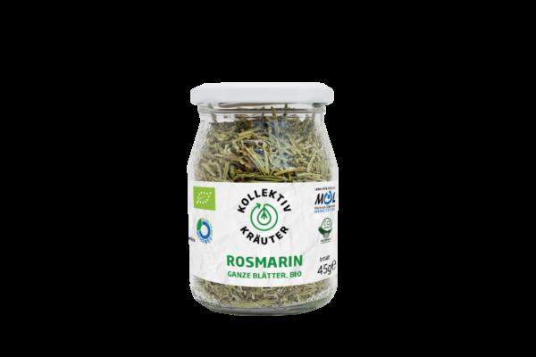 KollektivKräuter Bio-Rosmarin ganze Blätter 6x45g