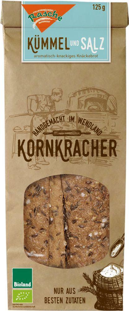 Kornkracher Handgemacht Im Wend Bio Kornkracher Kümmel und Salz Single Pack 10x125g