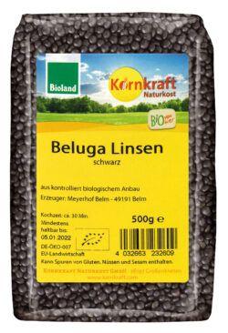 Kornkraft Beluga Linsen, schwarz 8x500g