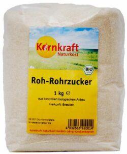 Kornkraft Roh-Rohrzucker 8x1kg