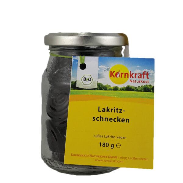 Kornkraft Süße Lakritzschnecke, vegan 180 g Pfandglas 6x180g