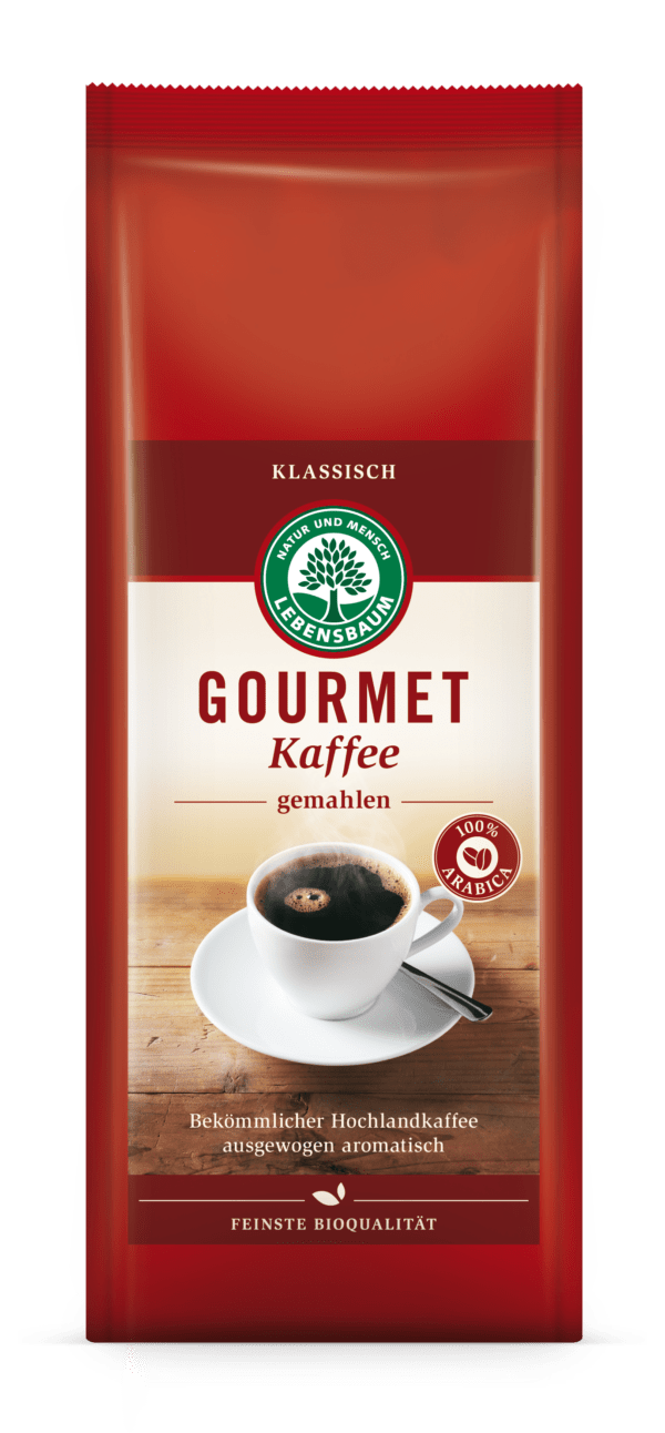 LEBENSBAUM Gourmet Kaffee, klassisch, gemahlen 500g