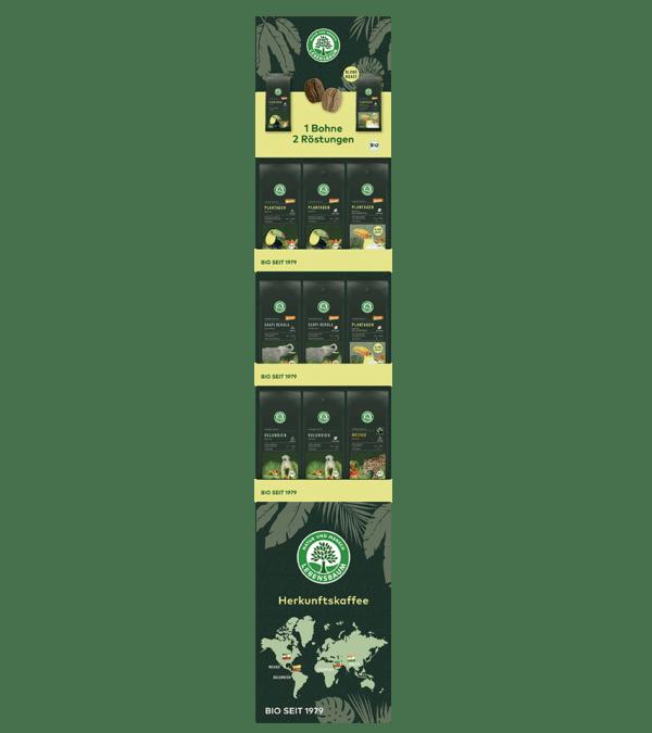 LEBENSBAUM Herkunftskaffee-Display 2020 54Stück