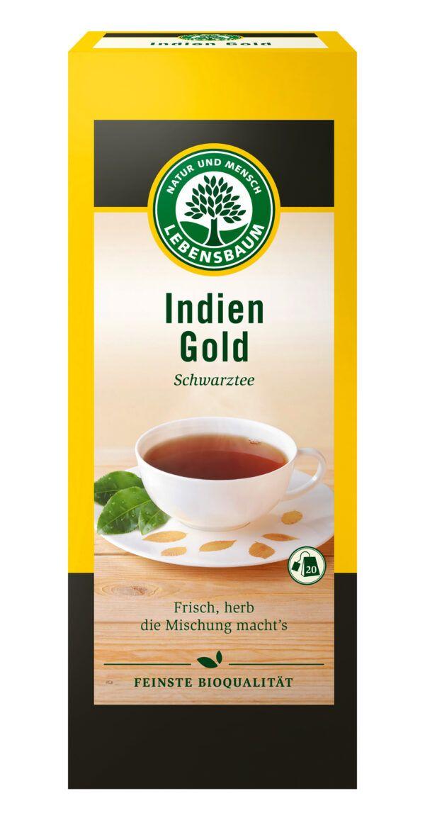 LEBENSBAUM Schwarztee Indien Gold 8x40g