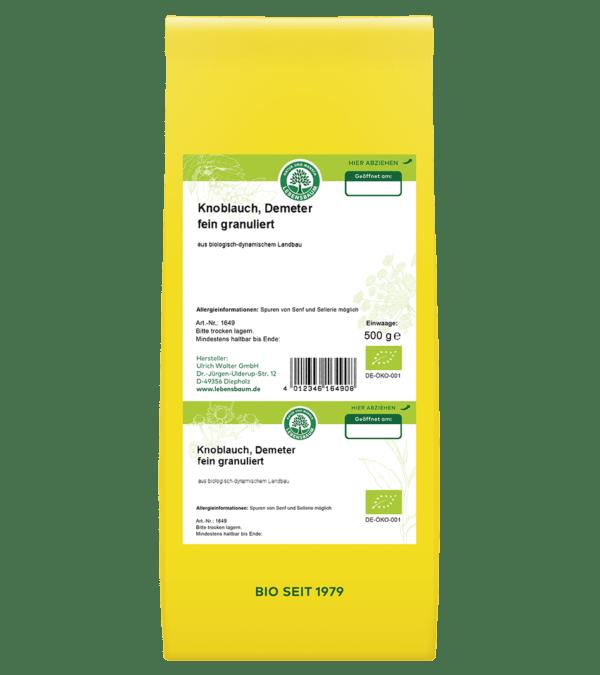 LEBENSBAUM Knoblauch, fein granuliert, Demeter 500g