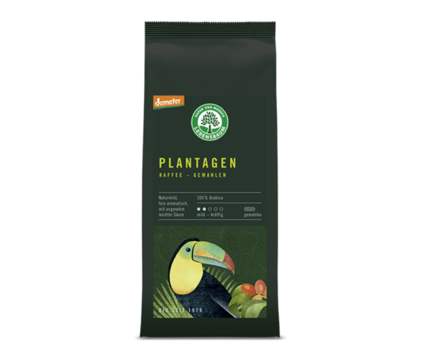 LEBENSBAUM Plantagen Kaffee, gemahlen 6x250g