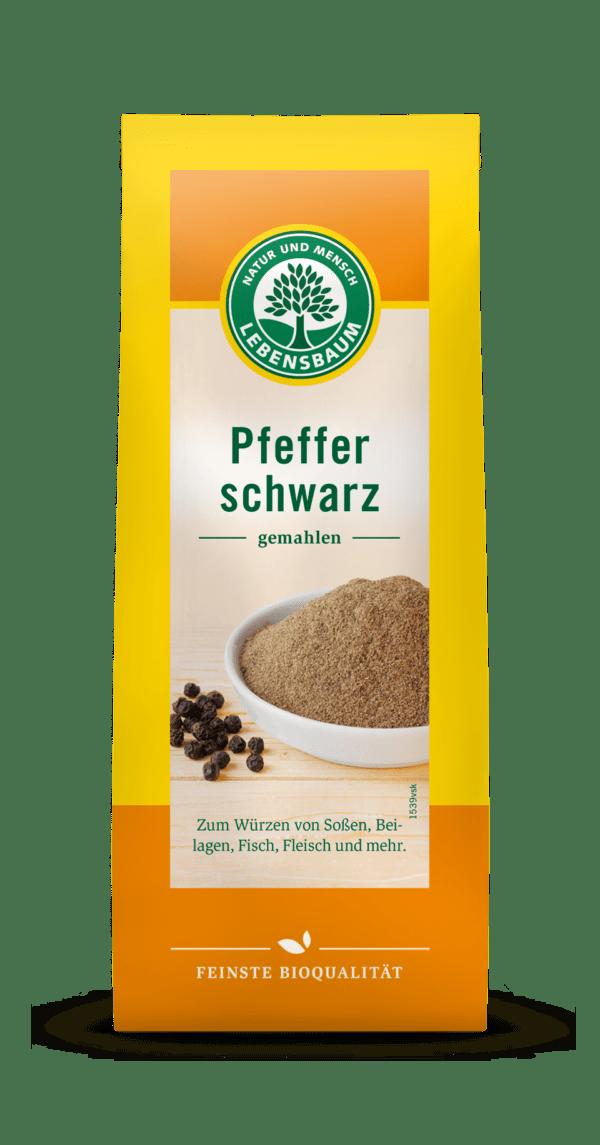 LEBENSBAUM Schwarzer Pfeffer, gemahlen 6x50g
