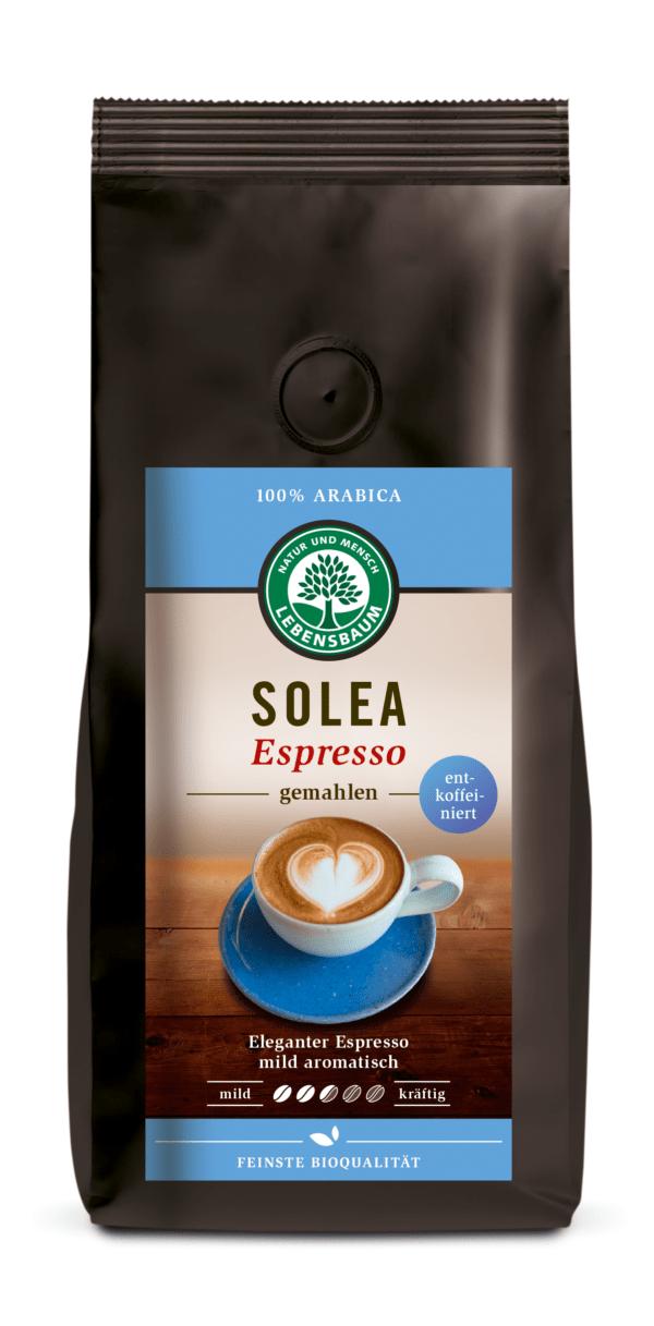 LEBENSBAUM Solea Espresso entkoffeiniert, gemahlen 6x250g