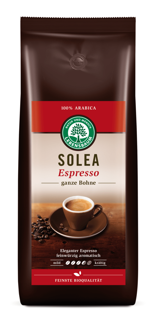 LEBENSBAUM Solea Espresso, ganze Bohne 4x1000g