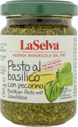 LaSelva Basilikum Pesto (Würzpaste) mit Schafskäse 100% natives Olivenöl extra 6x130g