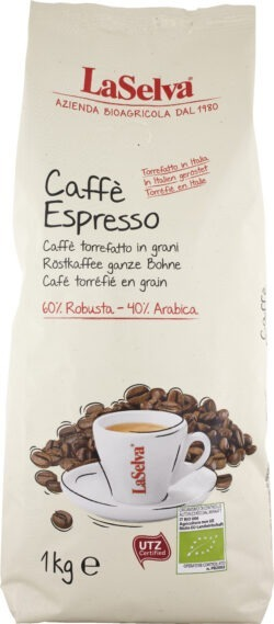 LaSelva Caffè espresso - Röstkaffee ganze Bohne *in Italien geröstet* 6x1kg