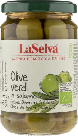 LaSelva Grüne Oliven mit Stein in Salzlake 6x310g