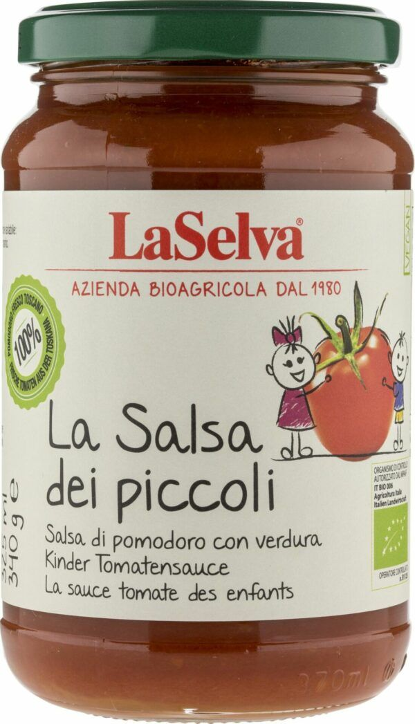 LaSelva Kinder Tomatensauce mit Gemüse - Salsa dei Piccoli 6x340g