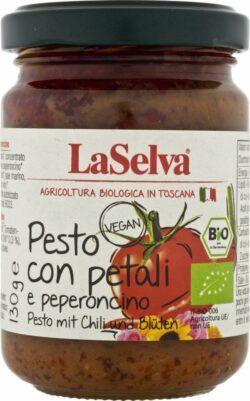 LaSelva Pesto mit Chili und Blüten - Tomaten Würzpaste 6x130g