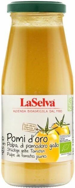 LaSelva Pomi d'oro Polpa di pomodoro giallo - Stückige gelbe Tomaten 12x425g