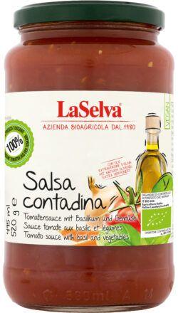LaSelva Salsa Contadina - Tomatensauce mit Gemüse und Olivenöl 520g