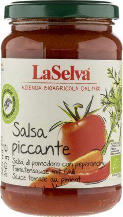LaSelva Salsa piccante - Tomatensauce mit frischem Gemüse und Chili 340g