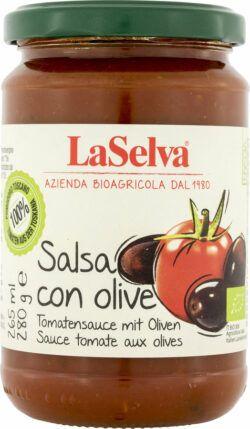 LaSelva Tomatensauce mit Oliven 6x280g