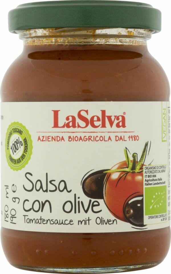 LaSelva Tomatensauce mit Oliven 6x190g