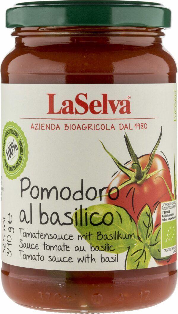 LaSelva Tomatensauce mit frischem Basilikum - Pomodoro al basilico 340g