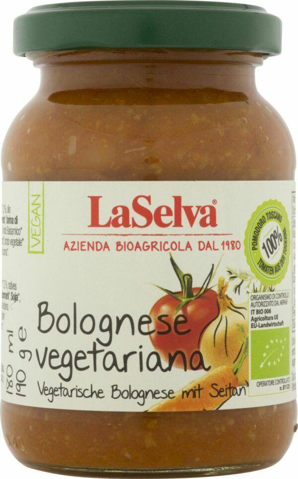 LaSelva vegetarische Bolognese mit Seitan - Tomatensauce mit Gemüse und Seitan 6x190g