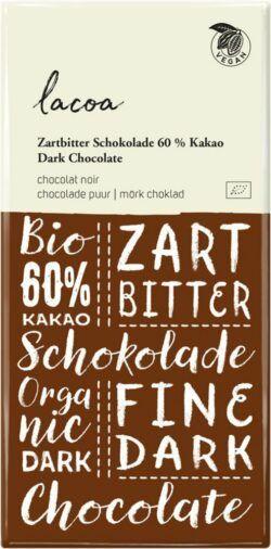 Lacoa Zartbitter Schokolade 60% Kakao 10x100g