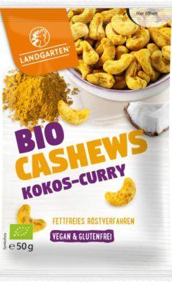 Landgarten Bio Cashews Kokos-Curry 10x50g