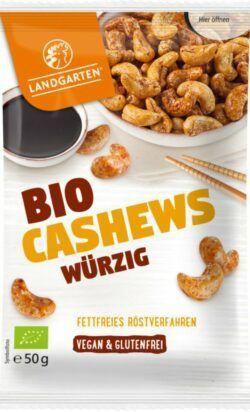 Landgarten Bio Cashews Würzig 10x50g