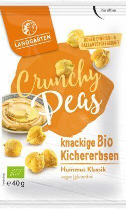 Landgarten Bio Crunchy Peas Hummus Klassik 10x40g