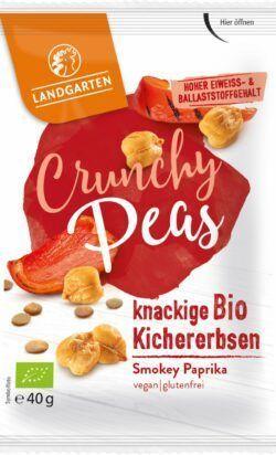 Landgarten Bio Crunchy Peas Mix Smokey Paprika 10x40g