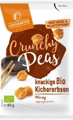 Landgarten Bio Crunchy Peas Würzig 10x40g