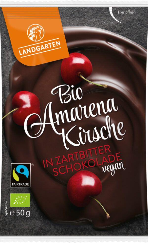 Landgarten Bio FT Amarenakirsche in Zartbitter-Schokolade 50g