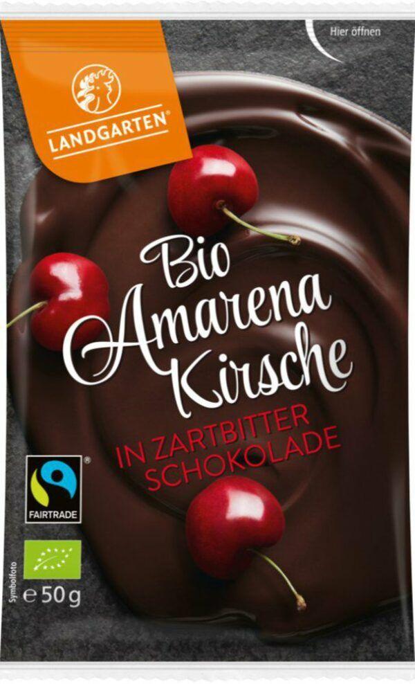 Landgarten Bio FT Amarenakirsche in Zartbitter-Schokolade 10x50g