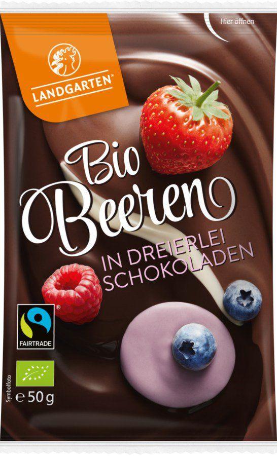 Landgarten Bio FT Beeren in dreierlei Schokoladen 10x50g