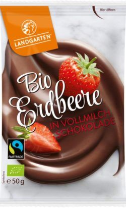 Landgarten Bio FT Erdbeere in Vollmilch-Schokolade 10x50g