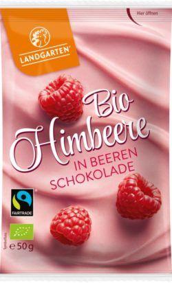 Landgarten Bio FT Himbeere in Beeren-Schokolade 10x50g