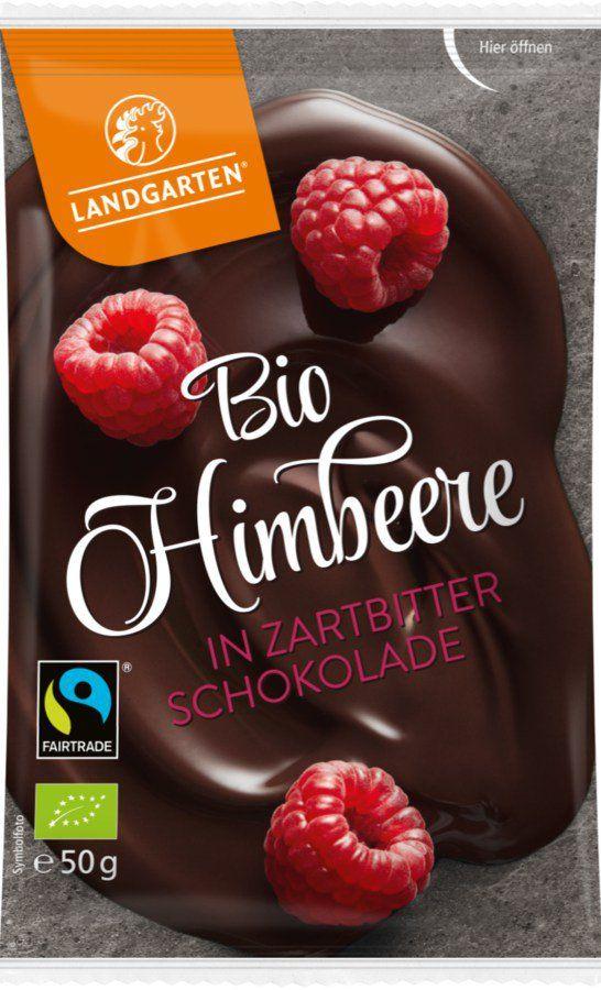 Landgarten Bio FT Himbeere in Zartbitter-Schokolade 50g
