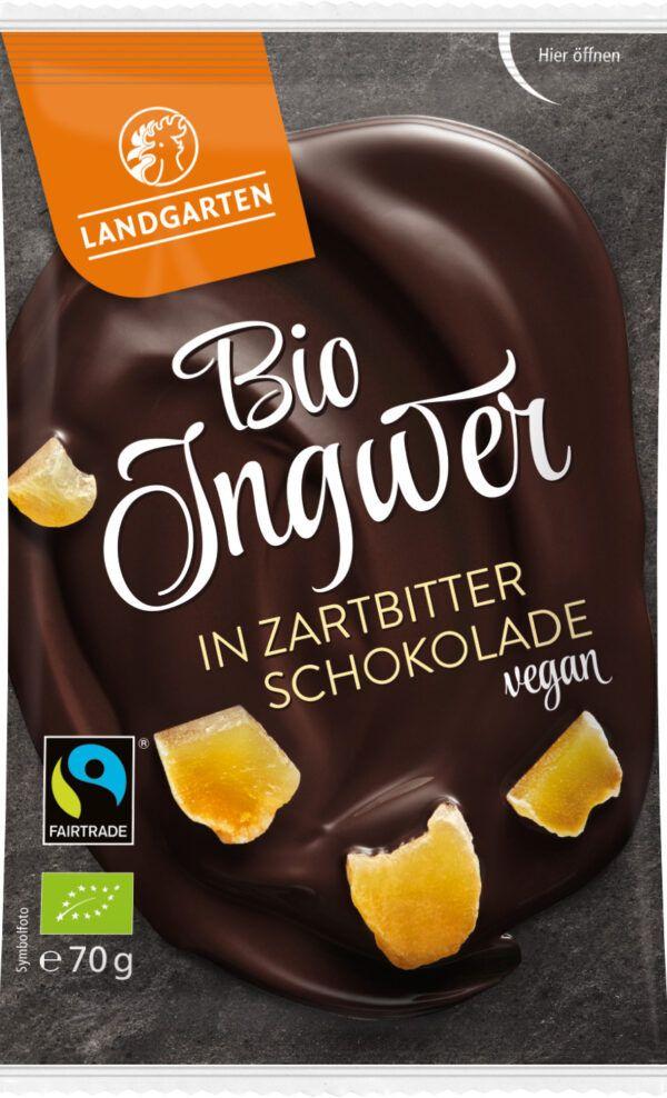 Landgarten Bio FT Ingwer in Zartbitter-Schokolad 70g