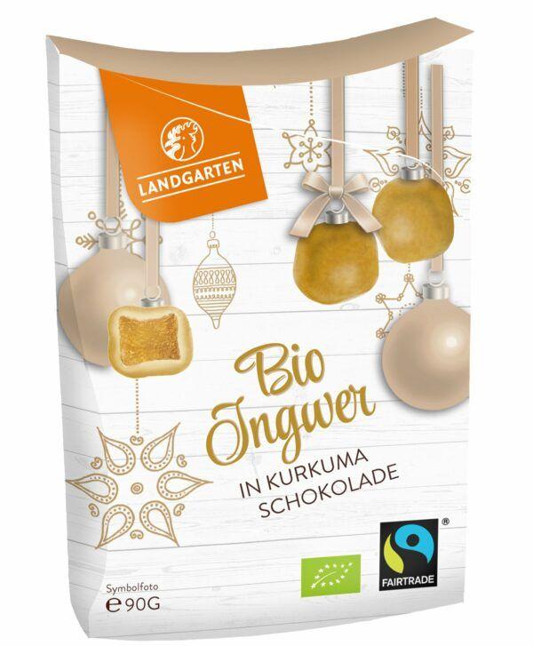 Landgarten Bio FT Ingwer in Weißer Schokolade mit Curcuma 5x90g