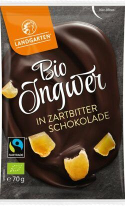Landgarten Bio FT Ingwer in Zartbitter-Schokolad 10x70g