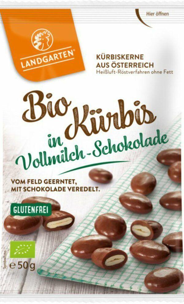 Landgarten Bio Kürbis in Vollmilch-Schokolade 10x50g