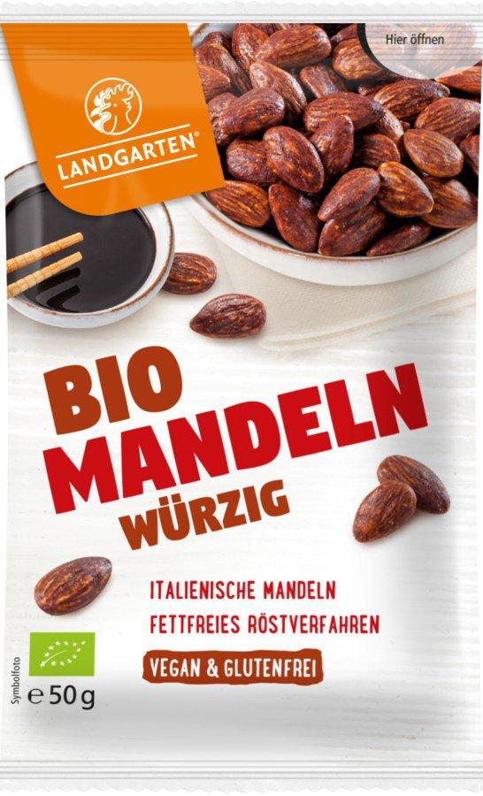 Landgarten Bio Mandeln Würzig 10x50g