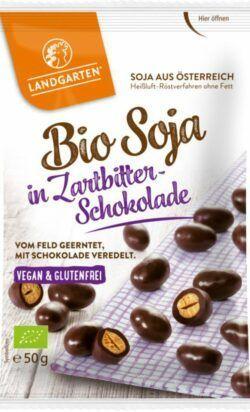 Landgarten Bio Soja in Zartbitter-Schokolade 10x50g