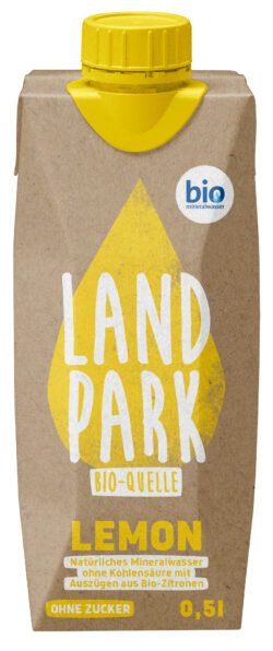 Landpark Bio-Quelle Lemon 0,5 l TetraPak 12x0,5l