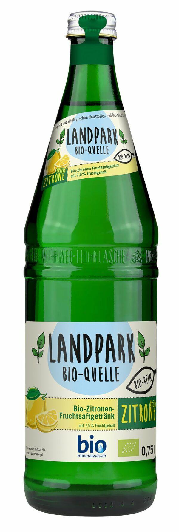 Landpark Bio-Quelle Limonade trübe Zitrone 12x0,75l