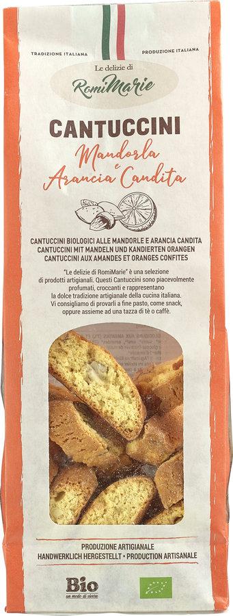 Le delizie di RomiMarie Cantuccini mit Mandeln und kandierten Orangen 12x200g