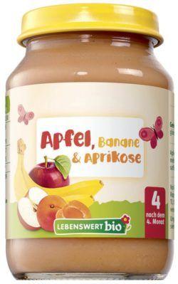 Lebenswert bio Apfel, Banane & Aprikose 6x190g