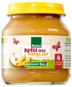Lebenswert bio Apfel Mango pur 6x125g