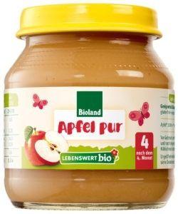 Lebenswert bio Apfel pur 6x125g